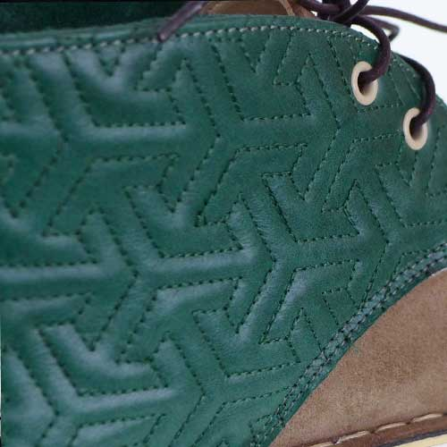 Нанесения паттерна или фирменной графики на обувь стежкой